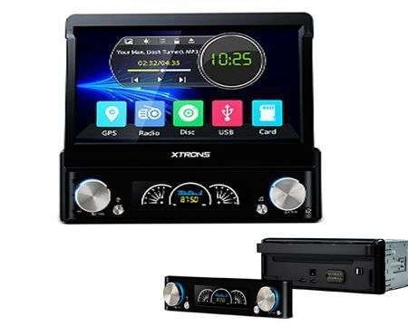 "1 DIN 7"" RADIO DVD GPS FRONTAL EXTRAIBLE TACTIL MOTORIZADA HD BT"