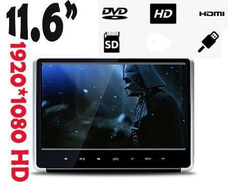 "11,6"" PANTALLA REPOSACABEZAS DVD SD USB HDMI FULL HD XTRONS"