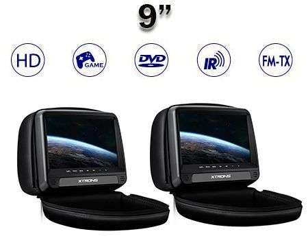 "2X9"" REPOSACABEZAS HD DVD SD USB HDMI ANTI-ROBO NEGRO"