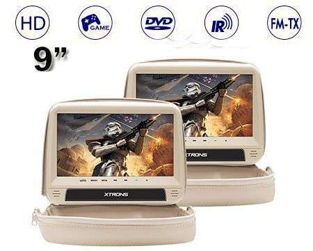 "2X9"" REPOSACABEZAS HD DVD SD USB HDMI ANTI-ROBO BEIGE"