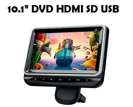 "10,1"" HEDREST DVD SD USB HDMI HD ROTATABLE"