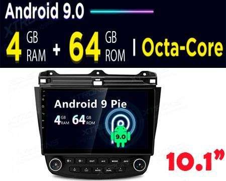 "10.1"" ANDROID 9.0 OCTACORE 4+64GB CAR GPS PLUG&PLAY ACCORD 03+"