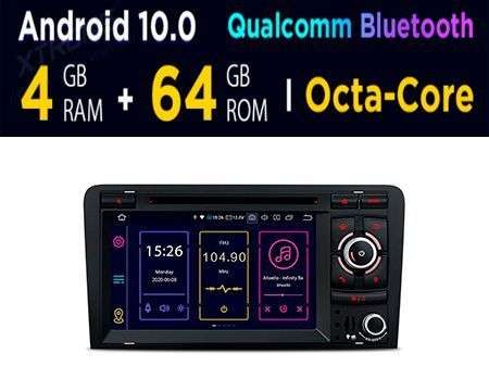 "7"" ANDROID 10 OCTACORE 4+64GB CAR DVD GPS QUALCOMM AUDI A3/S3"