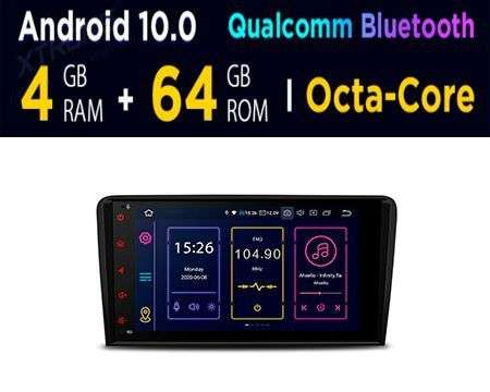 "8"" ANDROID 10 OCTACORE 4GB+64GB CAR GPS QUALCOMM AUDI A3/S3"