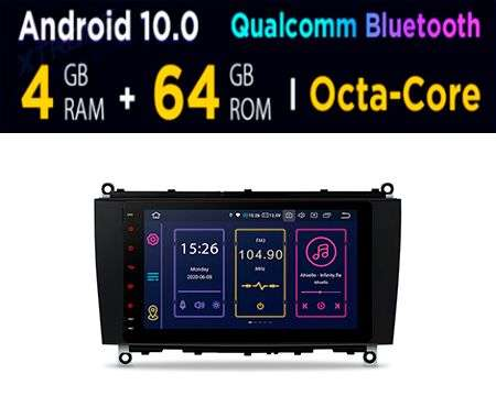 "8"" ANDROID 10 4+64GB QUALCOMM BT CAR GPS BENZ CLK A209 C209"