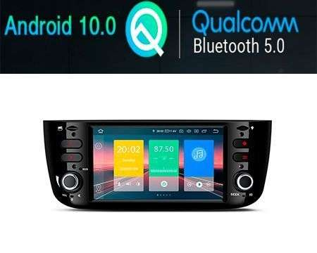 "6.1"" ANDROID 10 CAR GPS WIFI 4X48W GRANDE PUNTO