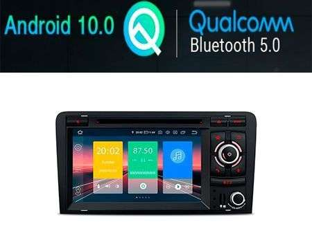 "7"" ANDROID 10 CAR DVD GPS QUALCOMM 4X48W AUDI A3/S3/RS3 03-12"