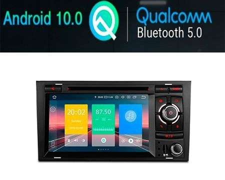 "7"" ANDROID 10 QUALCOMM CAR DVD GPS 4X48W AUDI A4
