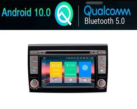 "7"" ANDROID 10 QUALCOMM CAR DVD GPS 4X48W FIAT BRAVO 07-14"