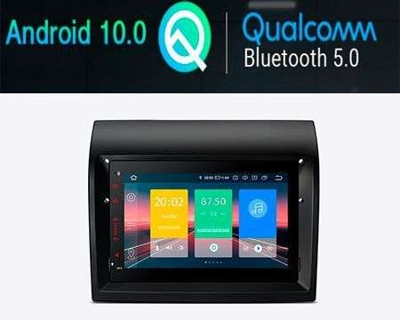 "7"" ANDROID 10 QUALCOMM CAR RADIO GPS WIFI 4X48W FIAT DUCATO"