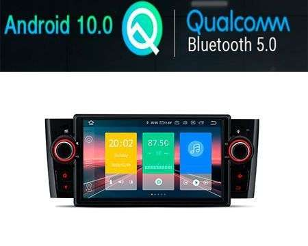 "7"" ANDROID 10 QUALCOMM CAR GPS WIFI FIAT GRANDE PUNTO/LINEA"