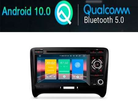 "7"" ANDROID 10 QUALCOMM APTX CAR DVD GPS WIFI AUDI TT"