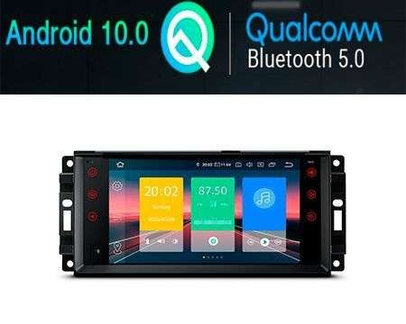 "7"" ANDROID 10 QUALCOMM CAR GPS 4X48W JEEP