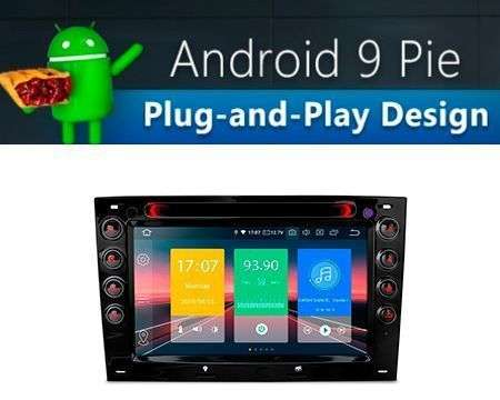 "7"" ANDROID 9.0 PX30 CAR DVD GPS WIFI 4X48W RENAULT MEGANE"