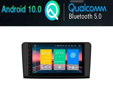 "9"" ANDROID 10 QUALCOMM CAR GPS PLUG&PLAY MERCEDES ML