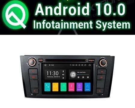 "7"" ANDROID 10 PX30 CAR DVD GPS WIFI 4X48W BMW 1 E81/E82/E88"