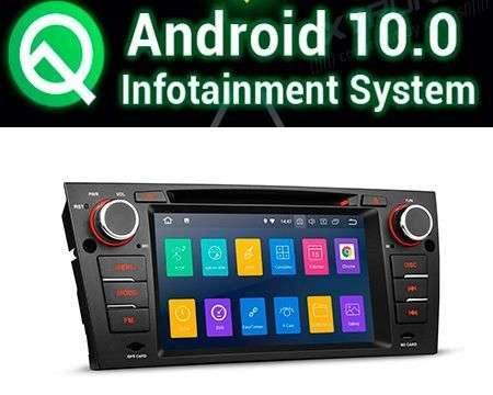 "7"" ANDROID 10 PX30 CAR DVD GPS WIFI 4X48W BMW E90/E91/E92/E93"