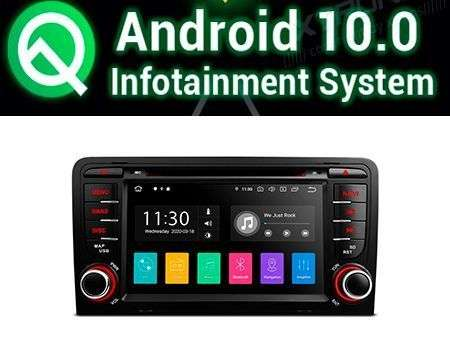 "7"" ANDROID 10 PX30 CAR DVD GPS 4X48W AUDI A3/S3/RS3 03-12"