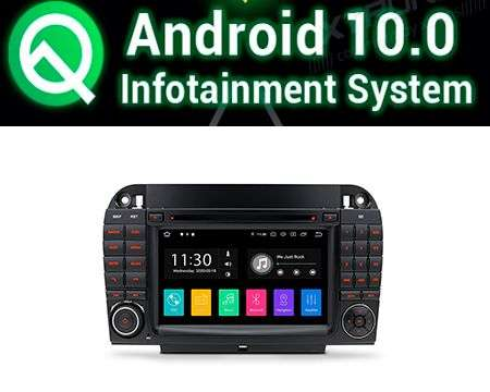 "7"" ANDROID 10 PX30 CAR DVD GPS WIFI 4X50W BENZ S W220"