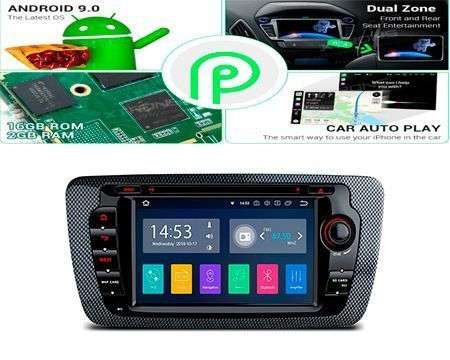 "7"" ANDROID 9.0 QUADCORE PX30 CAR DVD GPS 3 ZONE SEAT IBIZA 09-13"