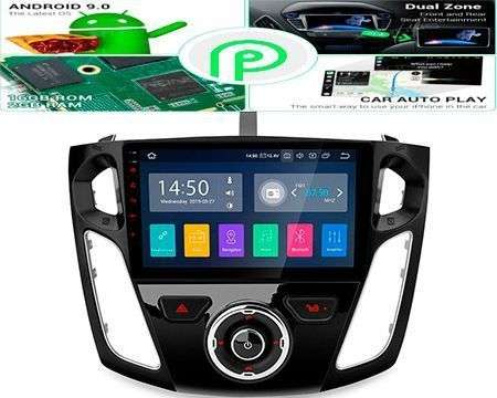 "9"" ANDROID 9.0 PX30 64BIT CAR GPS 3 ZONE WIFI 4X48W FOCUS 3"
