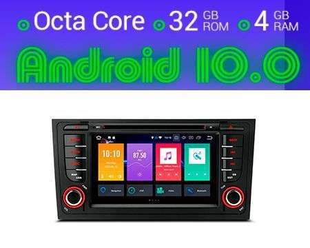"7"" ANDROID 10 8CORE 4GB+32GB CAR DVD GPS AUDI A6 CARPLAY"