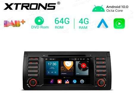 "7"" ANDROID 10 OCTACORE 4+64GB CAR DVD GPS BMW X5 E53"