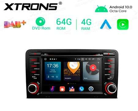 "7"" ANDROID 10 8CORE 64GB+4GB RAM CAR DVD GPS AUDI A3 CARPLAY"