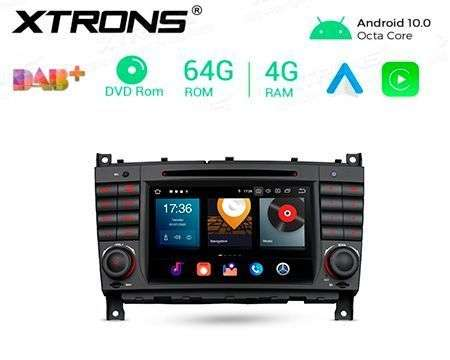 "7"" ANDROID 10 OCTACORE 4GB+64GB CAR DVD GPS BENZ C W203 CLK W20"