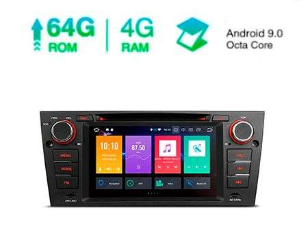 "7"" ANDROID 9.0 OCTACORE 4+64GB CAR DVD GPS CARPLAY BMW 3 E90"