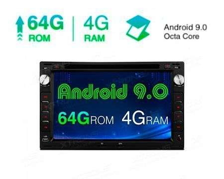 "7"" ANDROID 9.0 OCTACORE 4GB RAM+64GB ROM CAR DVD GPS VW/SEAT/SKO"