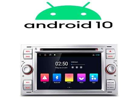 "7"" ANDROID 10 QUADCORE 2K CAR DVD GPS 3 ZONE WIFI FORD SILVER"