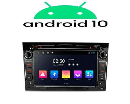 "7"" ANDROID 10 2K QUADCORE CAR DVD GPS 3 ZONE WIFI OPEL BLACK"