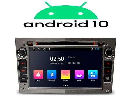 "7"" ANDROID 10 2K QUADCORE CAR DVD GPS 3 ZONE WIFI OPEL GREY"