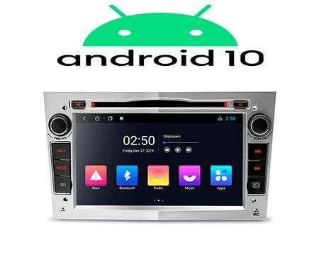 "7"" ANDROID 10 2K QUADCORE CAR DVD GPS 3 ZONE WIFI OPEL SILVER"