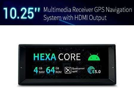 "10.25"" ANDROID 10 PX6 HEXACORE 4GB+64GB CAR GPS BMW 5 E39