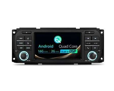 "5"" ANDROID 10 DSP QUADCORE CAR GPS 3 ZONE DODGE