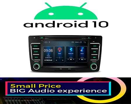 "7"" ANDROID 10 DSP QUADCORE CAR DVD GPS 3 ZONE OCTAVIA