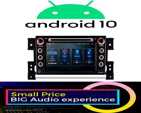 "7"" ANDROID 10 DSP QUADCORE CAR DVD GPS 3 ZONE GRAND VITARA 05-13"