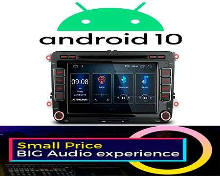 "7"" ANDROID 10 DSP QUADCORE CAR DVD GPS 3ZONE VW