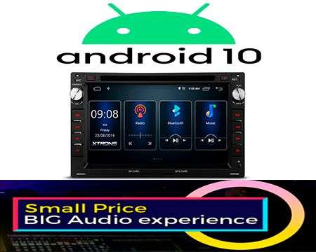 "7"" ANDROID 10 DSP QUADCORE CAR DVD GPS 3 ZONE VW