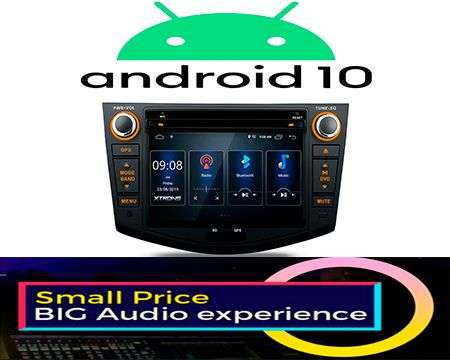 "7"" ANDROID 10 DSP QUADCORE CAR DVD GPS 3 ZONE RAV4 06-12"