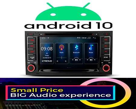 "7"" ANDROID 10 DSP QUADCORE CAR DVD GPS 3ZONE TOUAREG