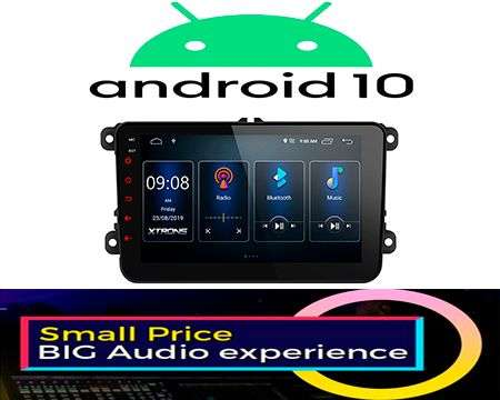 "8"" ANDROID 10 DSP QUADCORE CAR GPS WIFI 3 ZONE VW