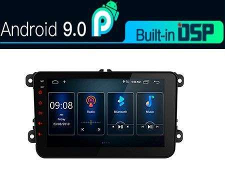 "8"" ANDROID 9.0 DSP QUADCORE CAR GPS WIFI 3 ZONE VW