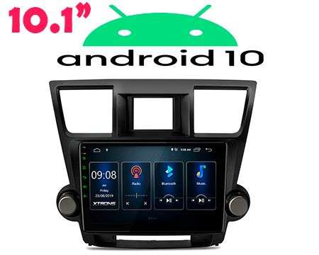 "10.1"" ANDROID 10 DSP QUADCORE CAR GPS 3 ZONE TOYOTA HIGHLANDER 0"