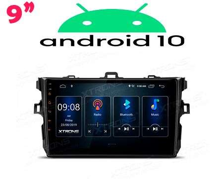 "9"" ANDROID 10 DSP QUADCORE CAR GPS 3 ZONE COROLLA 07-13"