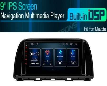 "9"" ANDROID 10 DSP QUADCORE CAR GPS 3 ZONE MAZDA CX-5"