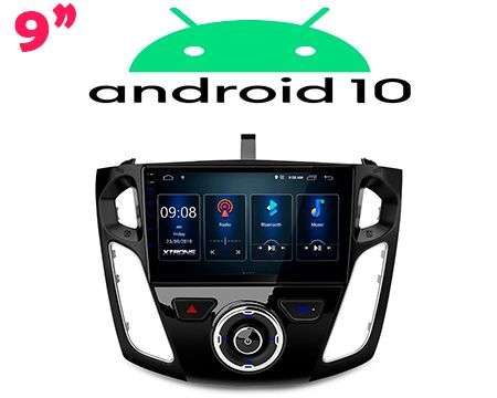 "9"" ANDROID 10 DSP QUADCORE CAR GPS 3 ZONE FORD FOCUS 12-17"