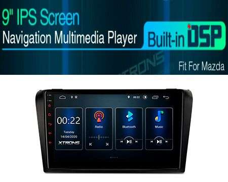 "9"" ANDROID 10 DSP QUADCORE CAR GPS 3 ZONE MAZDA 3 04-09"